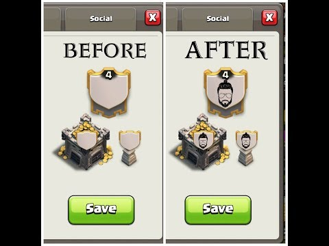 How to add a custom clan logo in clash of clans with editing!!!!!