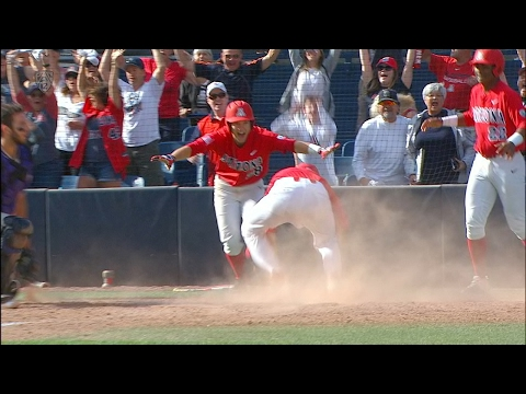 Highlight: Arizona baseball scores 5 in the bottom of the 9th to walk off against Washington