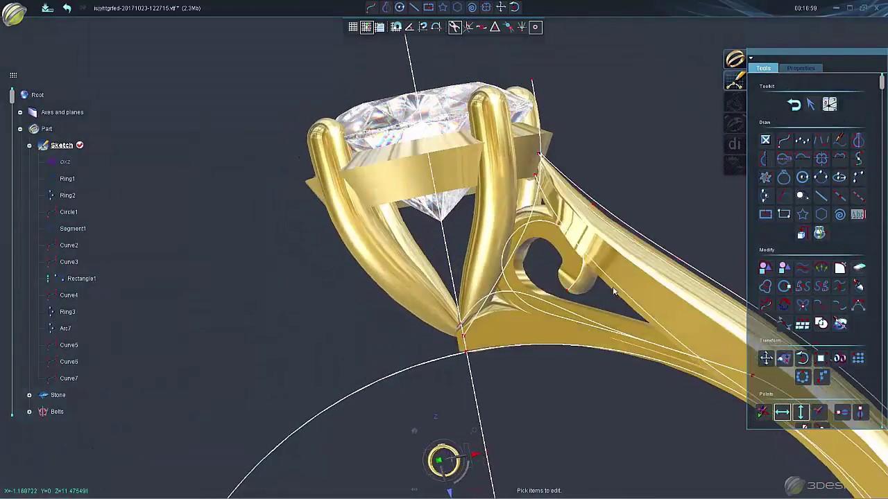 3Design, Jewelry Design Software - YouTube