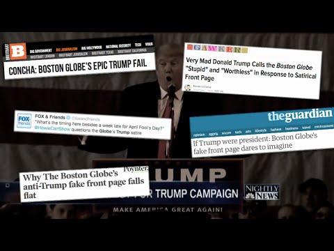Beat The Press: The Boston Globe Faux Trump Page