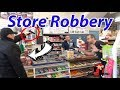 Armed Robber with Gun in Convenience Store (Scenario)