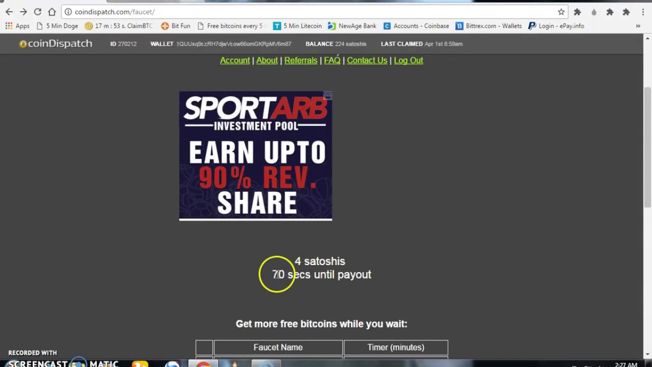 FREE Bitcoin Faucet EARN 50000 Satoshi Daily Real site - YouTube