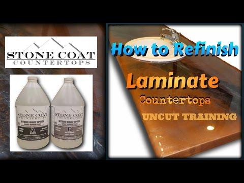 How to Refinish Laminate Countertops  uncut Training