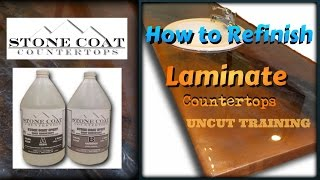 How to Refinish Laminate Countertops  uncut Training