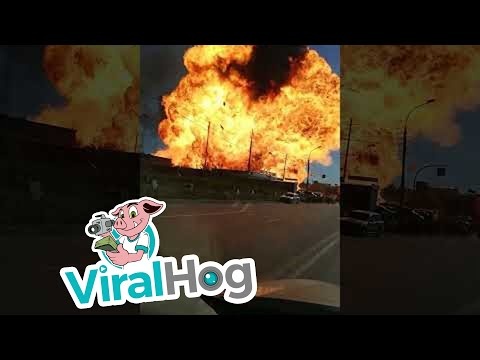 Road View of Gas Explosion in Novosibirsk, Russia    ViralHog