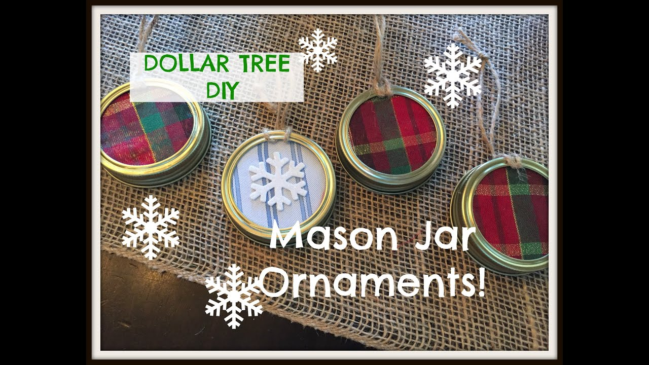 dollar tree christmas mason jar lid ornaments plaid week day 6