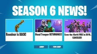 The REVOLVER and GHOUL TROOPER Skin RETURNS in Fortnite..