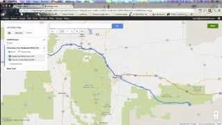 Google Maps Trip Planner to Google Earth KML Import Tutorial Free HD Video