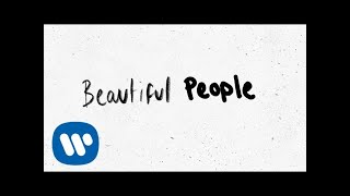 Gambar cover Ed Sheeran - Beautiful People (feat. Khalid) [Official Lyric Video]