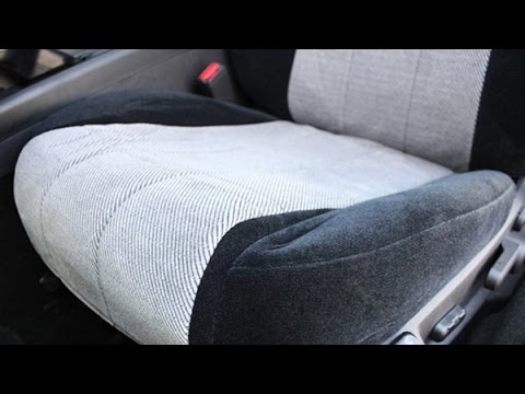CalTrend Custom Seat Covers Front Row Installation On Toyota Highlander
