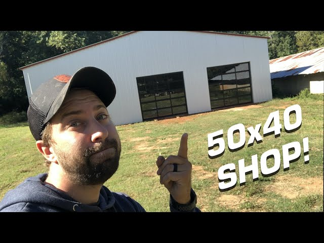 NEW 50x40 SHOP ON THE FARM!