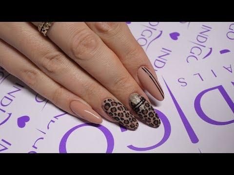 Leopard Nail Art Tutorial Indigo  Jak Namalowa Panterk Na Paznokciach