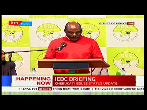 IEBC Chairman Wafula Chebukati announces receipt of 37,000 forms 34A