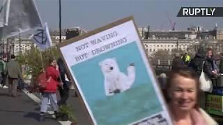 LIVE: Extinction Rebellion block London landmarks as part of their UK rebellion