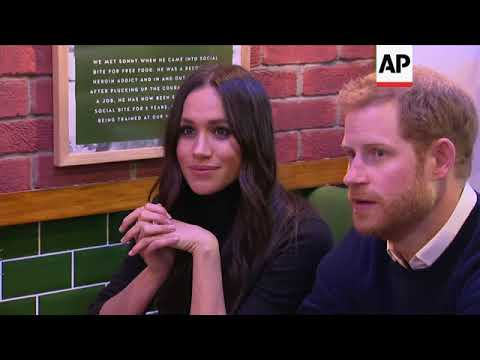 Harry and Meghan talk toasties in visit to cafe which supports homeless people