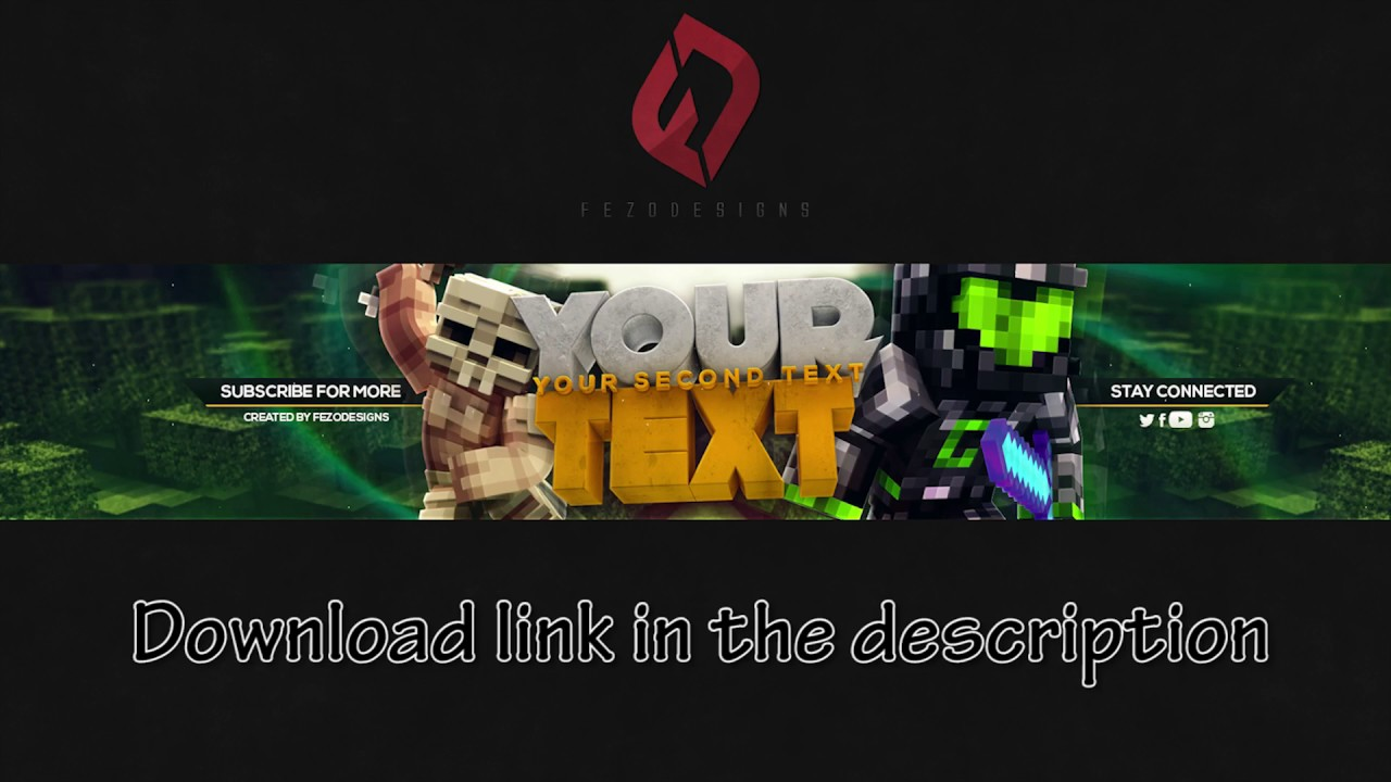 Best Minecraft Youtube Banner Template Free Download