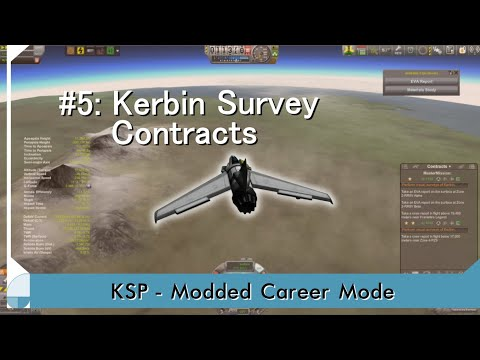 KSP Career: Episode 5 - Kerbin Survey Contracts
