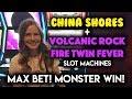 AMAZING RUN! HUGE WIN! Volcanic Rock Fire Twin Fever! Slot Machine!!!
