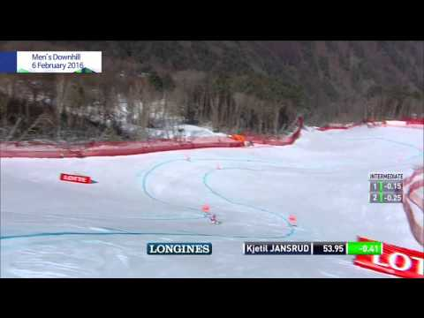 2016 Audi FIS Ski World Cup: Men's Downhill 1st Kjetil Jansrud