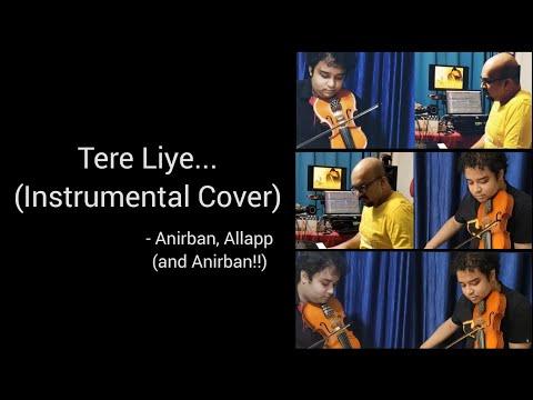 Tere Liye | Veer Zaara | Instrumental (Self-duet on Violin) Cover | Anirban, Allapp