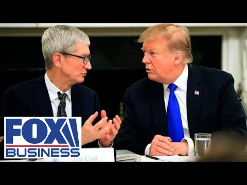 Trump Tours Apple Plant With CEO Tim Cook In Texas