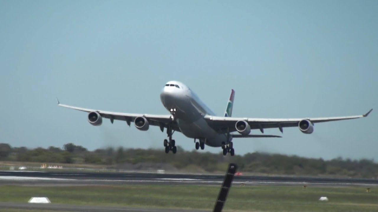 South African Airways A340 300 Takeoff Epic Sound