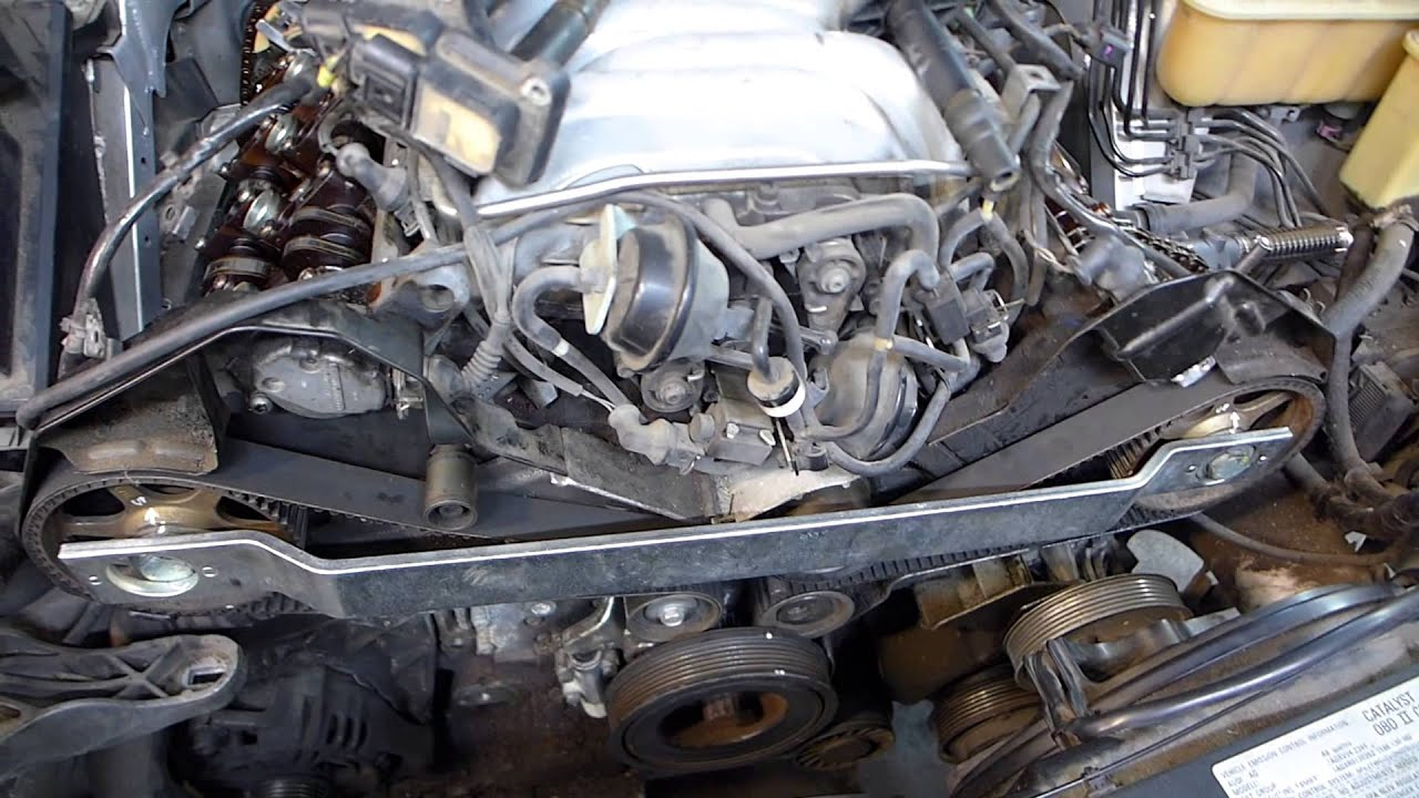 2000 4.2 V8 Audi A8L timing belt, cam chain tensioners, and engine revival  - YouTube | Audi V8 Engine Diagram |  | YouTube