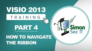Visio 2013 Tutorial - Part 4 - How to Navigate the Ribbon in Visio 2013