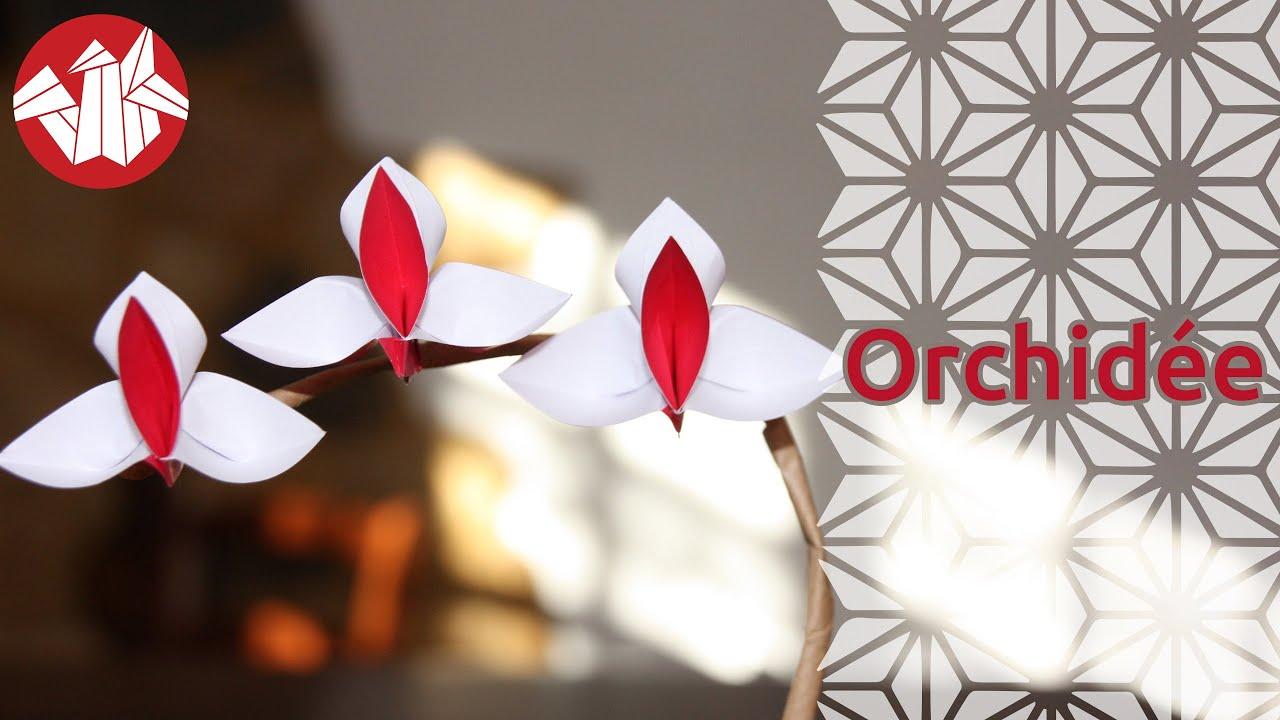 tuto origami orchidee