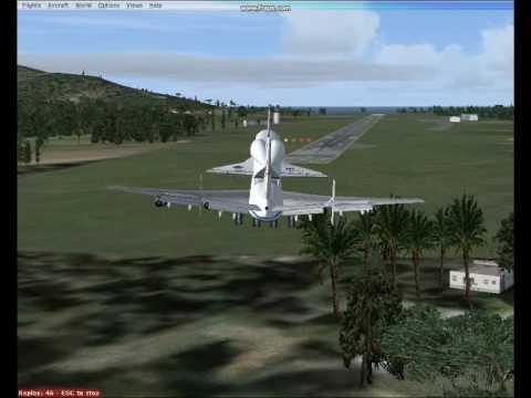 FSX Boeing 747-123 Crosswind Landing in TKPK