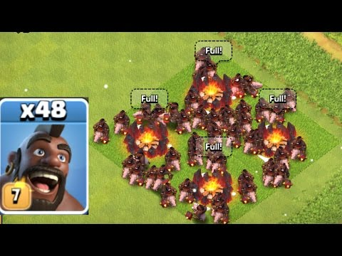 Clash Of Clans - NEW LEVEL 7 HOG SWARM RAID!!! (NEW UPDATE)