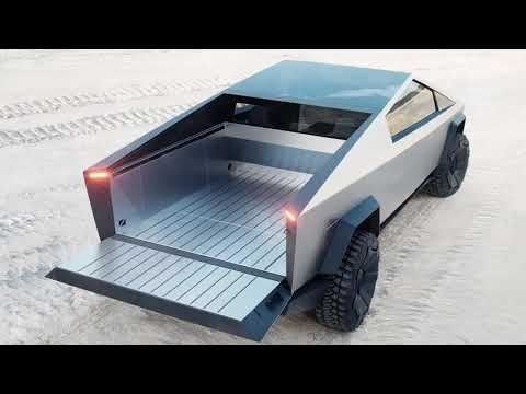 Tesla Cybertruck 2021   interior Exterior and Drive Monster Electric Truck
