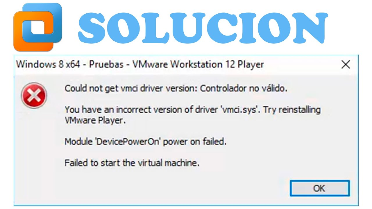 Error vmware could not get vmci driver version: the handle is.