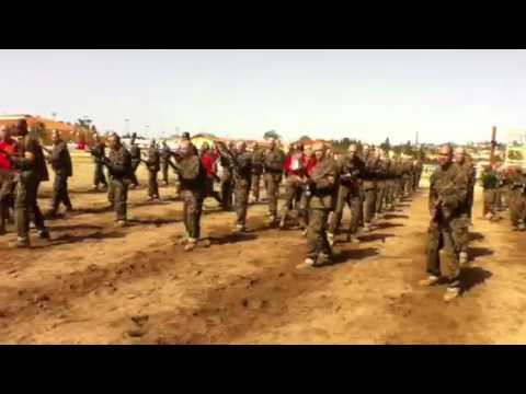 Bravo Co recruits bayonet training