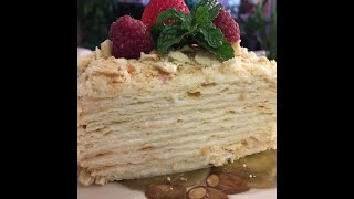RUSSIAN NAPOLEON CAKE BEST RECIPE EVER! ALL SECRETS REVEALED! THE KING OF ALL CAKES! YOU MUST TRY!