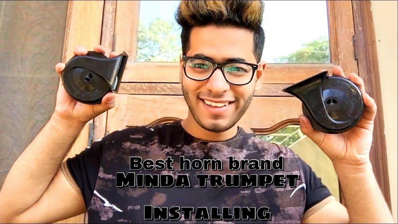 medium resolution of how to install minda trumpet horn on bike car honda livo in hindi