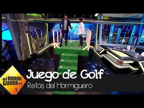 Gerard Butler se convierte en un golfista profesional - El Hormiguero 3.0