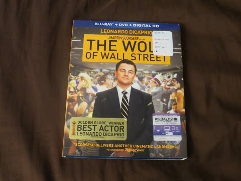The Wolf of Wall Street Blu-Ray/DVD Combo Review/Unboxing (HD)