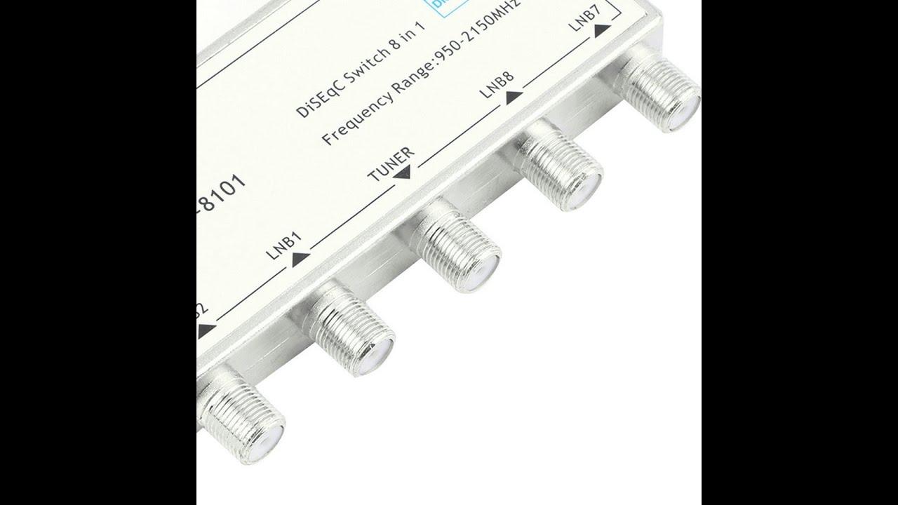 8 In 1 Satellite Signal DiSEqC Switch