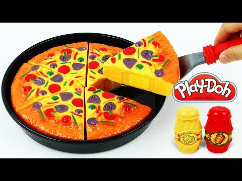 Toy Velcro Cutting Learn Fruits Vegetables Play Doh Pizza Baby Microwave Toy Ice Cream Surprise Egg