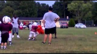 Hard Hits At Youth Football Practice