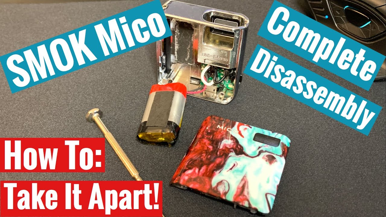 How To Take Apart Smok Mico - Complete Disassembly : LightTube