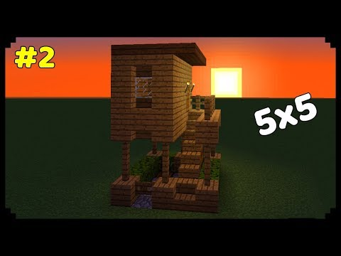 Minecraft: How to make a 5x5 Modern House? #2 | Wooden House