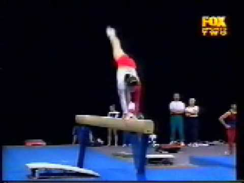 Sun Xiaojiao 1999 Canberra Cup Event Finals Balance Beam