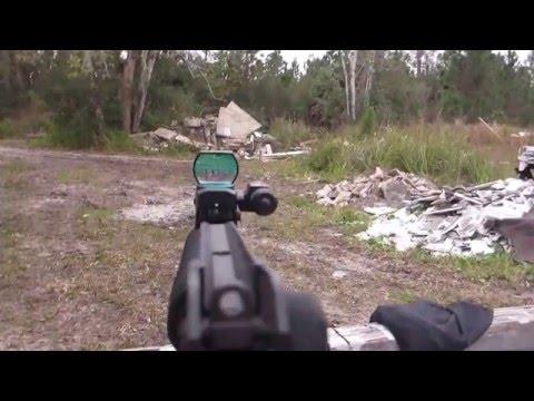 AR15 WITH CHEAP DOT SIGHT
