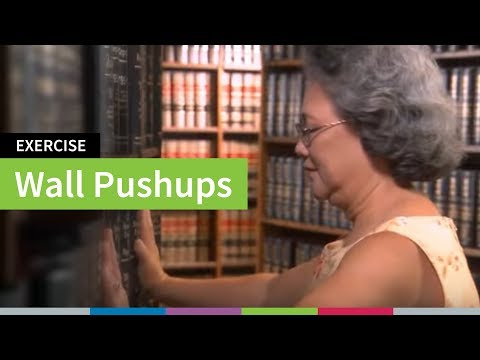 Wall Push-Up Strength Exercise | Go4Life