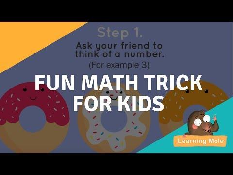 Fun Math Trick For Kids Improve Your Mental Math Youtube