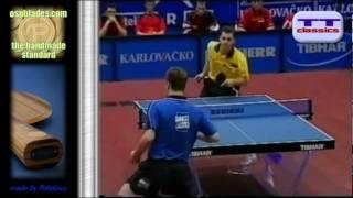 Table Tennis Boll vs Waldner, 40mm ball, 11 points, European Championship 2002