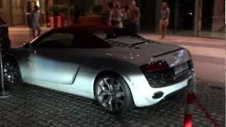 Audi R8 V10 Cabriolet with red top - JBR The Walk Dubai Marina