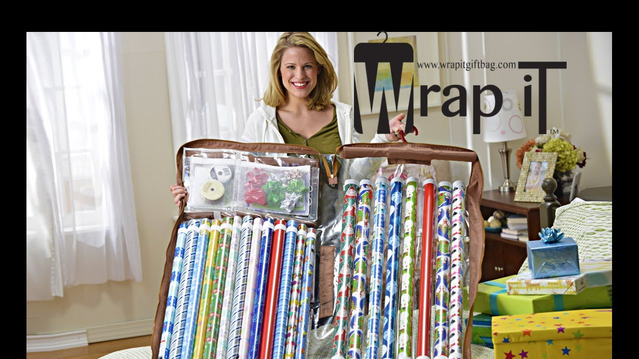 Captivating The Best Gift Wrap Organizer   Wrap IT   Hanging Gift Wrap Storage Solution    YouTube